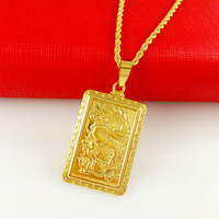 Wholesale New arrival fashion Jewelry Free Shipping! vacuum plated 24K gold Women's necklace with dragon pattern pendant! LA063