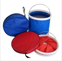 Free shipping 1PC 9L Cloth Bucket Portable Folding Travel Bucket Fishing Bucket  Travel Tools, Promotional Gifts