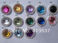 Free Shipping 18mm crystal Rhinestone Button Flatback wholesale ,60pcs/lot