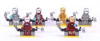 6PCS/lot the avenger action figure iron man Building bolck dolls #2 good custom iron man for children eduction & learning toys