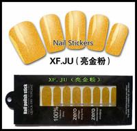 wholesale professional thin Nail care polish stickers environmental protection Nail Art Decoration wrap 500pks/lot free shipping
