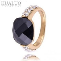 2014 New Arrived  Noble Vintage   Black Gem Ring #R784