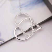 Free Shipping  925 Sterling Silver Necklace Jewelry pendant Necklace  18K -LN418