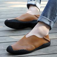 newest Popular Mens Men Shoes Flat Genuine Leather Driving Moccasins Slip On men's shoe Men footwear casual shoes #118