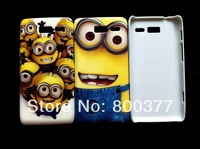 1Pcs Only, Hot Despicable Me 2, Hard cover case for Motorola XT890 RAZRi, Little Minios, Best fun fun phone case