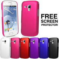 Hybrid Hard Case Cover For Samsung S7562 GT-S7562 Galaxy S Duos + Screen Protector