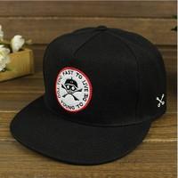 EXO men/women black skull baseball cap, casual hats for men and women,hip-hop Snapback Hat, Hats & Caps