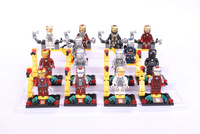 14PCS/lot H. Quality Legohome Super Heroes action figure  iron man Building bolck dolls for children eduction & learning toys