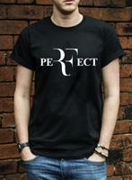 Roger Federer perfect logo t-shirt 100% combed cotton RF Tennis tshirt New men short sleeve t shirt high quality