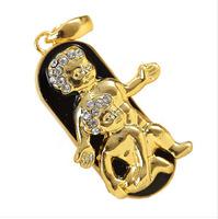 jewelry usb drive gift diamond necklace pen drive 8gb 16gb 32gb pen drive flash Gemini Constellation usb pendrive memory stick
