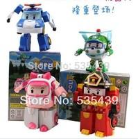 2014 NEW Hot 1 pcs/lot Robocar poli deformation car bubble South Korea Thomas toys 4 models mix robocar poli with retail pack