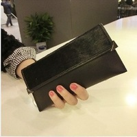 BUENO NEW  2014 Europe  ultra-thin soft contracted leather purse women's wallet wallet long horse free shipping HB1003