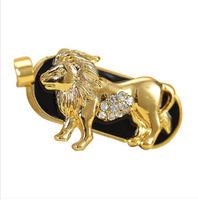 jewelry Leo Constellation usb flash drive metal disk pendrive necklace pendriver 8gb 16gb 32gb 64gb diamond pen drive gift