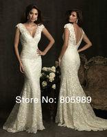 Free shipping best selling custom-made any colour Fashion V-neck Sleeveless Wedding  Dresses SH0182