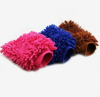 5pieces/lot Car cleaning products double faced anthozoan chenille cleaning gloves car wash tool car wash gloves