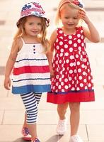2014New hot brand spring hot brand Cute dot dress with bowknot dress baby dress children's outerwear