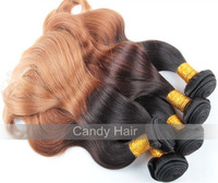 Top quality ombre brazilian hair body wave 4bundles lot human hair weave wavy ombre virgin hair extension queen hair products