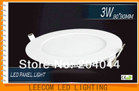 free shipping:2pcs/lot LED Panel Lights with 3W Total Power and >90% Power Factor