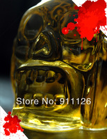 DHL/EMS Free shipping 40pcs/lot Creative Skull Head Vodka Personalized 450ml Zombie Decanter whiskey Mug/bottle Glass Hip Flasks
