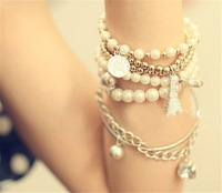 Min.order is $10 (mix order) Fashion Womens Girls Vintage Imitation pearls Bracelet Bangle Jewelry JE010 DY21
