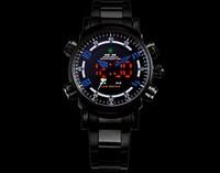 New 2015 brand Luxury designer military men's full steel led Analog-Digital men Sports watches Multi-movement dress Watch  gifts