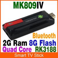 MK809IV Android Mini PC HDMI TV Dongle Stick Rockchip Rk3188 Quad Core 2GB RAM 8GB ROM WiFi Antenna Google Smart tv stick 10/lot