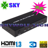 Full HD 1080P 1x4 HDMI Splitter 1*4, HDMI 1.3, Support 3D, 1 HDMI in 4 HDMI out
