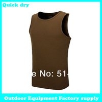 Dropshipping 2014 new sand men sports tight basketball running cycling fitness sportswear outdoor quick dry breathable tank top