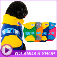 2014 New WAGETON Designer Dog Clothes Wholesale And Retail Pet Puppy Cat Coat Hoodie Sweater T-Shirt Costumes -4 Colors Apparel
