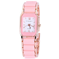 Rose gold plated reloj mujer ceramic women dress watches luxury fashion for ladies