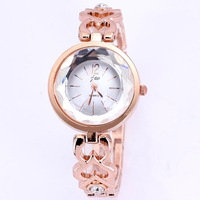 Top quality new women dress watches luxury famous brand JW quartz rose gold plated bracelet watch hours for female dropship