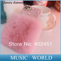 1 Pc/lot Free Shipping Rabbit Fur Case For iPhone 5 5s 5g Hot Sell New Fashion Luxury Case 100% Real Fur Case,