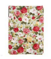Luxury Custom Pastoral Retro Flower Rose Love Heart Hard Back Cases Cover For Apple ipad 5 ipad Air Defender Shell 08103,7 Style