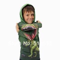 Free shipping 1pcs retail Dinosaur 3D kids hoodies boys&girls t shirts Wholesale children's sweatshirts