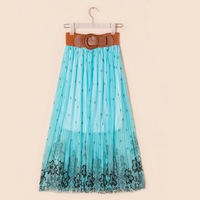 New Women summer Six colors Bohemian style was thin Bust Long skirt  +  Belt  Free Shipping Z004
