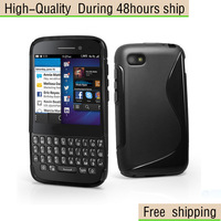New S Line Wave TPU Gel Case Cover For BlackBerry Q5  Free Shipping UPS DHL EMS HKPAM CPAM RHE-6