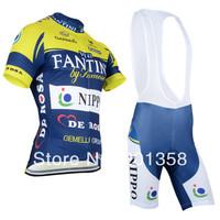 2014 FANTINI team short Sleeve Cycling clothing+Bib Shorts racing bike wear Size S M L XL XXL XXXL accept customized model