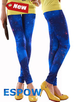 2014 Summer NEW Fashion Blue Sky Space Printed Free size Spandex womens tights