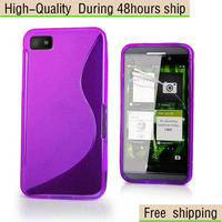 New Soft TPU Gel S line Skin Case Cover for Blackberry Z10  Free Shipping UPS DHL EMS HKPAM CPAM DLE-2