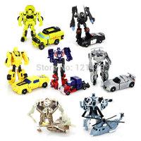 High quality 6-9cm Mini Robot Optimus 7pcs/lot boys toy transferm toy birthday gift free shipping