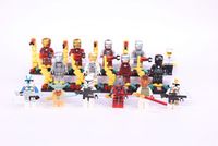 H.Quality 14pcs/lot  Classic toys of Star Wars Vs Iron Man  minifigures Yoda Captain Rex Clone Trooper  stomm trooper & Weapons