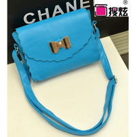 Package cover type Shoulder Messenger handbags 2014 spring new female bag small bow handbag shoulder bag can be mixed batch