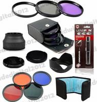 58 mm  UV CPL FLD Filter Set + Cleaning pen + Rubber Lens hood Color Filter Kit for Canon EOS 700D 650D 600D 550D 500D 450D