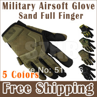 Tactical Military Airsoft Glove Racing Hunting Cycling Motorbike Bicycle Bike Full Finger Gloves Sand Color Available