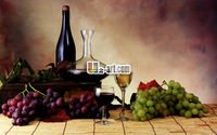 Free shipping modern artwork high quality oil painting Canvas Prints grape wine and fruit photo for Bar wall Static-244