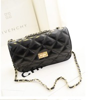 2014 new rhombus women leather handbags mini sachets women messenger bags elegant chain clutch bag