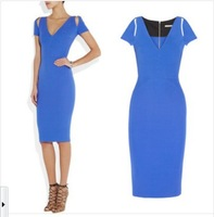 New Arrival Hot Sale 2014 Fashion Spring Women Dress Slim Plus Size Dresses ELegant Free Shipping