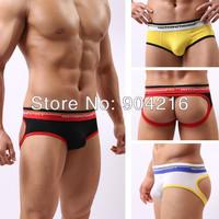 New Arrival Fashion Sexy Lingerie Mens Jockstrap G-Strings&Thongs T-back Underwear Underpants Nightwear 3 Color Size M/L/XL#WH14