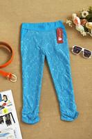 2014 spring brand new summer Elastic lace legging capris pencil pants lace novelty pants