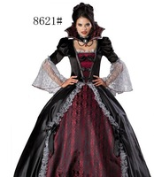 Clothes female  masquerade  Halloween costume dress female vampire zombie  masquerade party queen witch  free shipping